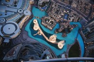 Dubai Fountains from up